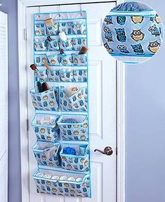 The Over-the-Door Craft Organizer offers easy access and visibility to your craft supplies. Its 23 pockets are great for neatly storing ribbon, sequins, beads, embellishments and more. Has 3 metal-reinforced grommet holes along the top that slip onto the