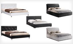 Groupon - Baxton Studio Bed Frame and Headboard Sets (Up to 51% Off). Multiple Styles Available. Free Shipping and Free Returns. in Online Deal. Groupon deal price: $269.0.00