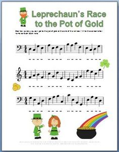 Give kids the note naming practice they need with this fun St. Patricks Day Worksheet. FREE Printable!