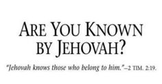 If you don't know Jehovah, it's not too late to get to know him. Jehovah's Witnesses will be happy to help you. Ask the next one who comes to your door. You can also go to JW.org to request a free home Bible study.