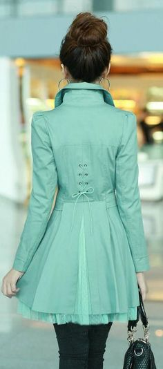 Mint Trench Coat