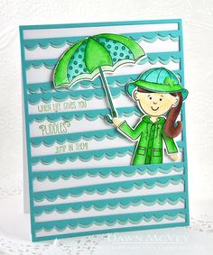 When Life Gives You Puddles Card by Dawn McVey for Papertrey Ink (July 2016)