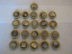 25 Stück Perlmutt-Knöpfe,Montageknöpfe 2 Teilig,Farbe…