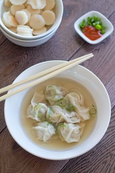 Healthy Wonton Soup by canuckcuisine: Quick, easy and tasty. #Soup #Wonton #Healthy - Foodiez