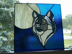 Wolf stained glass