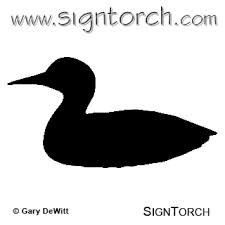 loon silhouette - Google Search