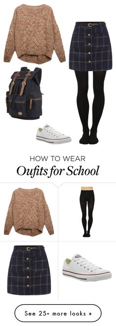 """""""School"""" by lol-horse on Polyvore featuring Relaxfeel and Converse"""