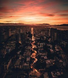 """""""Pretty soon I'll be getting on my first plane, I'll see the veins of my city like they do in space."""" - Lorde Use to get featured! San Francisco Alcatraz, San Francisco Sites, Lombard Street, Paradise City, City Vibe, Nature View, San Francisco California, Most Beautiful Cities, Beautiful Things"""