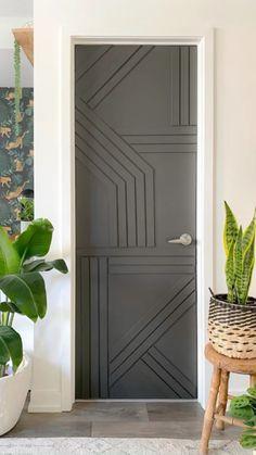 Door Redo, Door Makeover, Diy Door, Door Design, House Design, Diy Home Decor, Room Decor, Do It Yourself Furniture, Home Upgrades