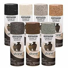 Rust-Oleum American Accents Stone Textured Spray Paint Vases Pots Arts Crafts in Crafts, Art Supplies, Painting Supplies Stone Spray Paint, Spray Paint Vases, Textured Spray Paint, Painted Vases, Paint Pots, Spray Painting, Rustoleum Spray Paint Colors, Painting Bathtub, Gouache Painting