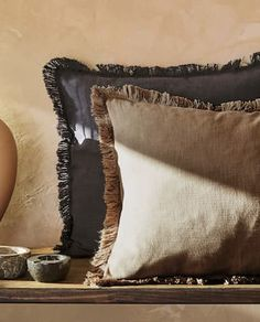 Image of the product COTTON CUSHION COVER WITH FRINGING Zara Home, Cushions, Throw Pillows, Cover, Room, Cotton, United Kingdom, Image, Pillow Covers