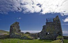Jarlshof in Shetland, Scotland. Time travel back 4000 years to witness the prehistoric settlement.