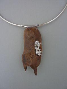 driftwood and silver casted in water #MetalJewelry #JewelryMakingTutorials