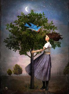A Bluebird's Song Art Print by Christian Schloe | Society6