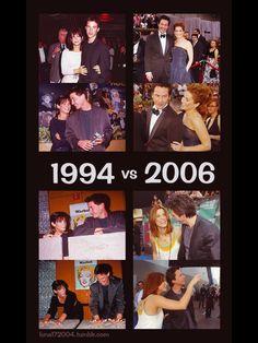 Keanu ♡♥ Reeves and Sandra Bullock 1994 vs 2006
