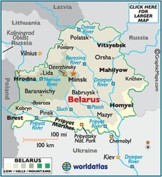 map of Belarus. Chernin would be North of Orsa on the Dnieper River in mahilyow Province. Although I have seen Chernin associated with Minsk as well. Wilhelmina Reddig (nee Ludke) came to America from here.