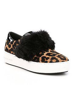 MICHAEL Michael Kors Maven Cheetah Print Calf Hair Sneakers