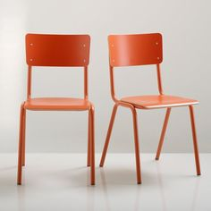 Image Set of 2 Tubular Steel HIBA Chairs La Redoute Interieurs