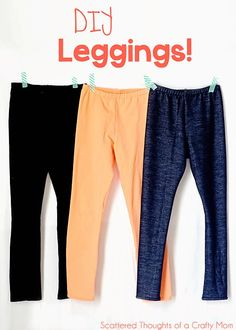 Sew our own leggings with this free pattern! More