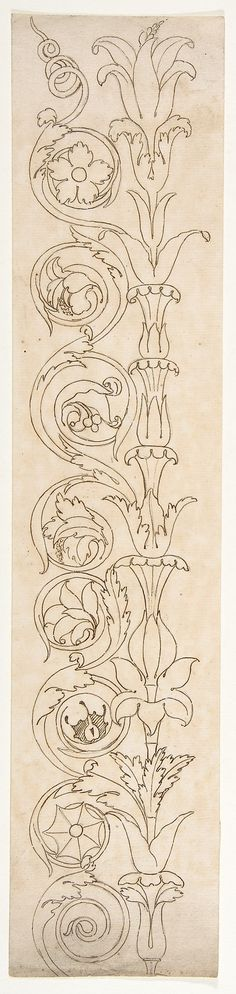 Ornamental drawings (recto) blank (verso)