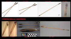 Frecce tipiche della California settentrionale (Wintu e Yahi). Arco e frecce, come tra le altre popolazioni indigene nordamericane, era l'arma da getto principe. Il suo utilizzo era sia per gli scopi bellici che per quelli venatori.