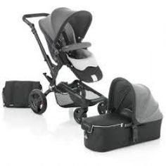 Jane Rider Package - Shadow/Black #Pram and Micro Carry Cot Package