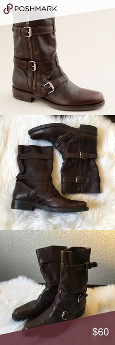 J. Crew Miller Motorcycle Boots In great condition!! J. Crew Shoes Ankle Boots & Booties