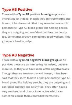 AB blood type Looking for more information about Blood Type diets? Take a look at drlam.com and enter blood type diets in search bar. Blood Type Personality, Ab Blood Type, Blood Types, Ab Blood Group, Blood Groups, Ab Negative Blood, Ab Positive, Fatigue Syndrome, Heart Disease