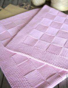 Pink Baby Blanket for Neighbours Baby Due in June - Helen Pullen - The Over the Rooftops Blanket KNITTING PATTERN is easy to knit with super bulky weight yarn and big needles. Looks like checkerboard pattern with alternating blocks of I made one just like Pink Baby Blanket, Baby Boy Blankets, Knitted Baby Blankets, Baby Blanket Crochet, Crochet Baby, Bunny Blanket, Blanket Basket, Rope Basket, Afghan Crochet