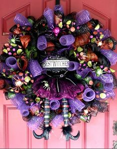 """Created by Carlene Prichard: Chatterbox Creations-1.blogspot.com - """"Halloween Wreath. . .Let's Try It Again!"""" - 10/5/15.  (Pin#1: Chatterbox Creations.  Pin+: Wreath for All Occasions)."""
