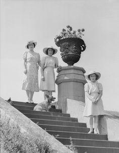 Queen Elizabeth (The Queen Mother), Princess Elizabeth and Princess Margaret, 1941