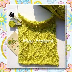 Técnica de tricô e receita de ponto, hoje lá no blog:  http://miauartes.blogspot.com.br/ #artesanato #tricô