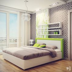 bed room,neon, home, decoration