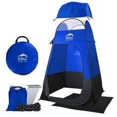 Ridge Outdoor Gear PopUp Changing Shower Privacy Tent – Portable Utility Shelter Room rainfly Ground Sheet Camping Shower Toilet Bathroom Trade Shows Beach Spray tan pop up Beach Camping, Camping With Kids, Go Camping, Winter Camping, Camping Hammock, Camping Outdoors, Cool Camping Gear, Camping Mattress, Backyard Camping