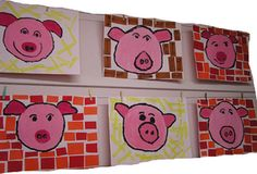 3 little pigs Fairy Land, Fairy Tales, Three Little Pigs, Fairytale Art, Preschool Themes, Classroom Crafts, Teaching Art, Nursery Rhymes, Easy Drawings