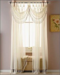 Remarkable Home Curtains For Interior Design - Page 20 of 40 Home Curtains, Sheer Curtains, Drapery, Window Coverings, Window Treatments, Beautiful Curtains, Interior Decorating, Interior Design, Curtain Designs