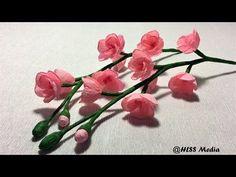 Paper flowers - Wallflowers / Stocks (Flower # 4) - YouTube