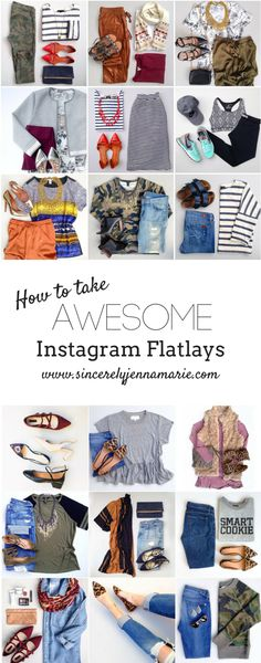 "Instagram ""flatlays"" or ""outfit layouts"" are pictures of an outfit flat on the ground, usually folded in some way, rather than on a human being.  Flatlays are also my most popular kind of instagram co"