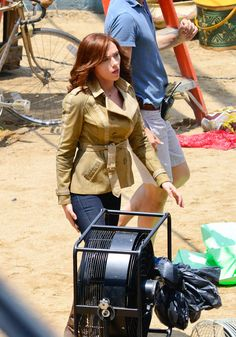 Scarlett Johansson on CAPTAIN AMERICA: CIVIL WAR Set