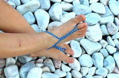Dark blue Rhinestones Baby Barefoot Sandals;Glam,Baby Foot accessories,Photo prop, Beach Pool Anklet, Beachwear Accessory, baby foot jewelry by Kreacje on Etsy