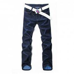 Fashion Slimming Bleach Wash Narrow Feet Men's Denim Khaki Pants ...
