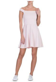 MARKET 33 - Vestido ombro e ombro - rosa - OQVestir