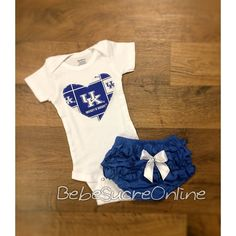 University of Kentucky Girls Outfit by BebeSucreOnline on Etsy