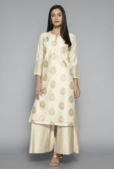 dd693a2636e7d3 Buy Zuba by Westside Beige Printed Kurta for Women Online @ Tata CLiQ