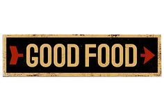 Good Food distressed sign >> Love this!