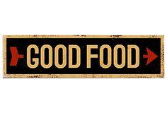 Good Food Wood Sign on OneKingsLane.com