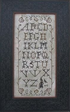 Lisa Roswell alphabet witch cross stitch chart