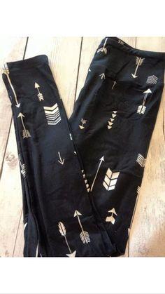 Black leggings white arrow lularoe