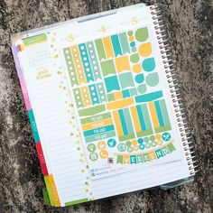 August Theme Essential Kits Sticker Planner // Perfect for Erin Condren Life Planner by FasyShop on Etsy