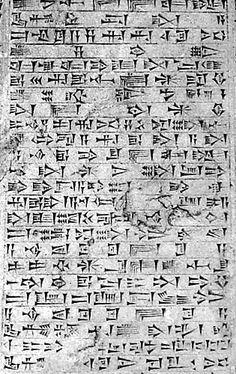 Cuniform-mesopotamia